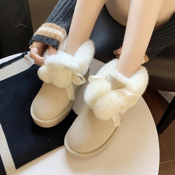 網紅皮毛一體雪地靴女冬2020年新款加絨加厚可愛保暖外穿毛毛棉鞋 童趣潮品