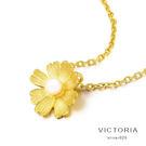 3D印金   花朵吊墜 黄金格桑花項鍊-維多利亞171224