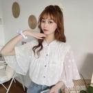 設計感小眾白色襯衫女2020夏季新款上衣甜美溫柔風淑女雪紡衫衣服