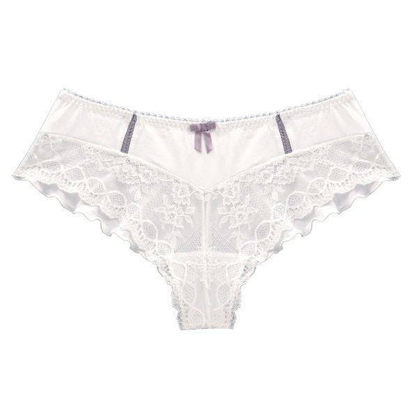 孕婦內褲 法國 Cache Coeur - Lisa 款 孕婦內褲 珍珠白 SH910