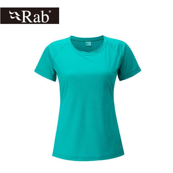 英國 RAB Interval Tee 銀鹽抗菌短袖排汗衣 女 海泡石綠 #QBT55SE