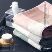 毛巾 彩色 格紋 吸水 雙面毛巾 洗臉巾【KCJ6023】 BOBI  05/11