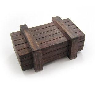 成人益智智力玩具  木制孔明鎖  單開小魔盒