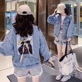牛仔衣短外套 2020春秋新款復古寬鬆bf韓版開學季學生學院風水洗女 OO13049『黑色妹妹』