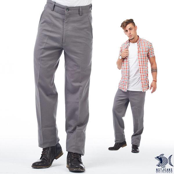 【NST Jeans】397(66411) 日式職男2.0 深灰斜口袋_商務休閒褲(中腰)