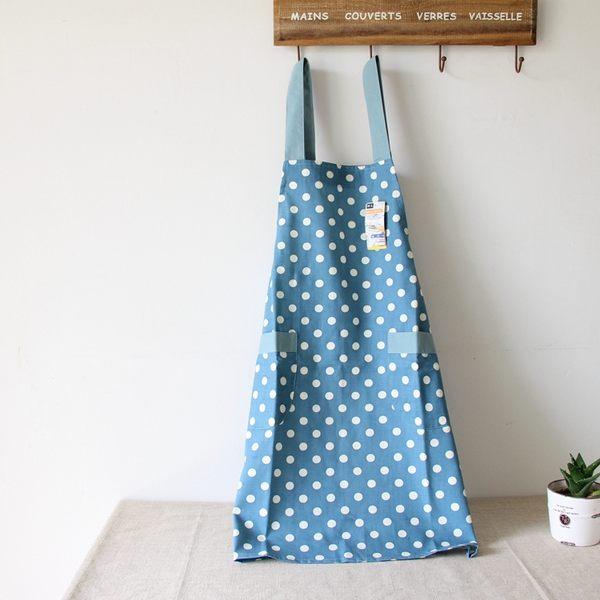 [現貨] 日系棉麻小清新 波點條紋圍裙