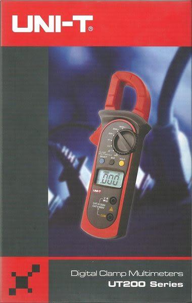 泰菱電子◆交流溫度數位鉤表鉤錶勾表㊣台灣總代理UNI-T優利德UT-202 TECPEL
