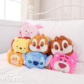 【迪士尼造型捲毯 趴姿】Norns 冷氣毯 懶人毯 披肩 溫暖毛毯 Disney正版授權 維尼史迪奇熊抱哥