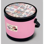 迪士尼  圓形玩具收納椅-蜜桃粉 JAN-305647【STDI020014003】