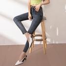 窄管褲 牛仔褲女高腰顯瘦緊身小腳修身八分鉛筆褲夏季薄款九分彈力-Ballet朵朵