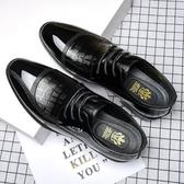 皮鞋 皮鞋男夏季潮鞋韓版英倫男士休閒鞋透氣商務正裝潮流鞋子 芊墨左岸