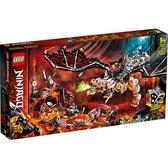 樂高積木 LEGO《 LT71721 》 NINJAGO 旋風忍者系列 - 骷顱頭巫師之龍 / JOYBUS玩具百貨