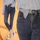 限量現貨◆PUFII-牛仔褲 造型反褶褲頭彈力窄管褲牛仔褲-1019 現+預 秋【CP21124】