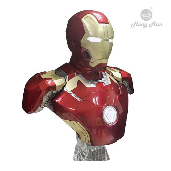 《新竹推薦音響店》預約訂做限量款漫威英雄系列 ╮鋼鐵人Mark43 BUST半身胸像1:1藍牙喇叭