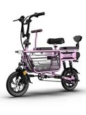 電動車 亞狄曼電動自行車小型女士親子三人折疊迷你母子帶娃代步電瓶車 莎瓦迪卡