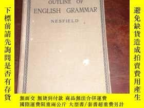 二手書博民逛書店英文原版罕見Outline of English Grammar