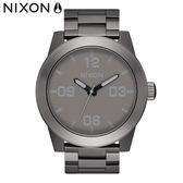 NIXON手錶 原廠總代理A346-2090 THE CORPORAL SS 鐵灰色 潮流時尚鋼錶帶 男女 運動 生日情人節禮物