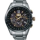 SEIKO精工 GPS 太陽能鈦金屬衛星定位手錶-黑 8X42-0AB0G(SSE139J1)