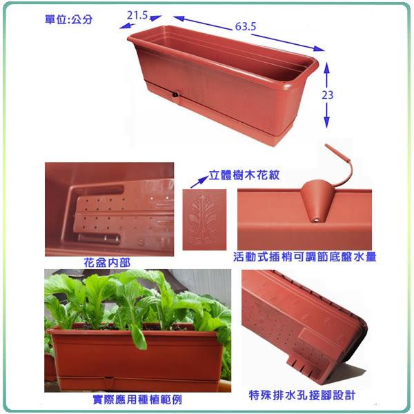 【綠藝家】2尺多功能自動澆水花盆(含底盤)