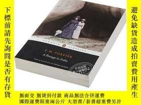 二手書博民逛書店印度之行罕見英文原版 英文文學 A Passage to India E.M. Forster Penguin C
