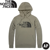 【The North Face 男女款 LOGO 連帽T恤《礦物灰》】4U8Y/帽T/大學T/長袖T