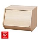 日本 IRIS 木質可掀門堆疊櫃 寬40cm 淺木色 E1板材 DIY