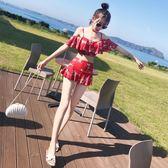 泳衣女三件套韓國小香風分體泳裝性感保守