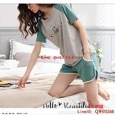 春夏季純棉薄款女士睡衣夏天短袖短褲家居服加大碼兩件套裝【CH伊諾】