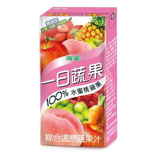 M-波蜜100%水蜜桃蘋果蔬果160ml*6【愛買】