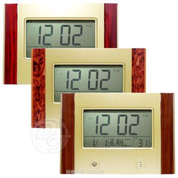 《一打就通》LED數位萬年曆掛置雙用橫式電子鐘 W-9923 ∥六合一功能∥液晶萬年曆∥