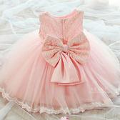 典雅蕾絲大蝴蝶結蓬蓬裙洋裝