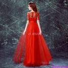 (45 Design)  客製化顏色尺寸領新娘長款婚紗晚宴年會演出主持人禮服17