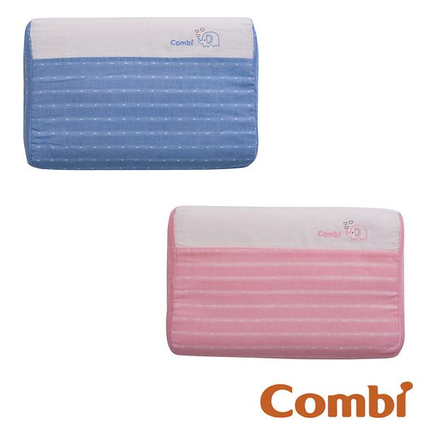 【愛吾兒】Combi 康貝 和風紗透氣嬰兒枕-藍/粉(71032/71033)