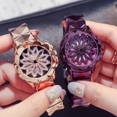 正韓大錶盤時尚奢華水鑽滿鑽手錶女潮流女士休閒時裝錶石英防水女