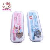 【成長天地】Hello Kitty/新幹線 2入環保餐具組 湯匙/筷子組 方便攜帶 附收納盒