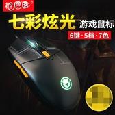 有線滑鼠筆電臺式電腦游戲辦公家用電競USB宏滑鼠【英賽德3C數碼館】