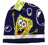【卡漫城】 海綿寶寶 毛線帽 深藍 大 ㊣版 帽子 保暖帽 護耳帽 造型 Spongebob 毛帽 男孩男童