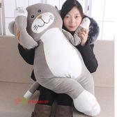 (萬聖節)新款毛絨玩具大號貓咪抱枕軟體公仔貓玩偶兒童布娃娃女生禮物xw