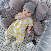 嬰兒連體衣短袖新生兒衣服滿月純棉薄款寶寶哈衣夏季 GB4566『M&G大尺碼』