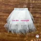女童半身裙紗裙兒童半裙薄款夏季裙子短裙半截裙大童舞蹈裙【桃可可服飾】