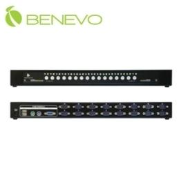 【超人百貨X】免運 客訂5天 BENEVO BKVM116PUD UltraKVM 機架型 16埠USB&PS2雙介面