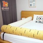 【虎兒寶】Kangaruru 袋鼠寶寶防蹣 床圍抱枕-黃色小山丘 長175cm