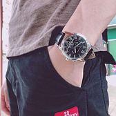 手表男潮流時尚學生防水運動男士手表非機械表皮帶男款韓版石英表