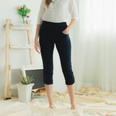【中大尺碼】MIT雙釦造型薄布中褲