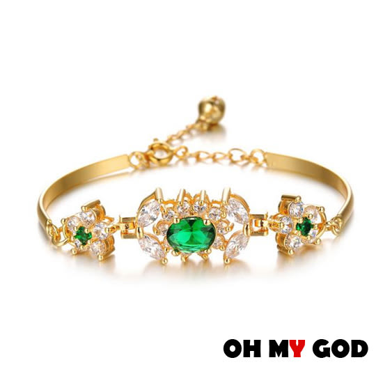 OH MY GOD羅馬水晶鋯石手鍊