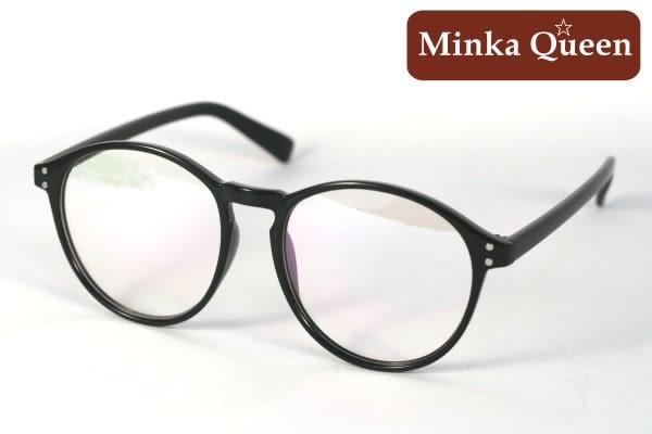 Minka Queen 亮黑色膠框(抗UV400)潮流必備個性百搭流行配光眼鏡
