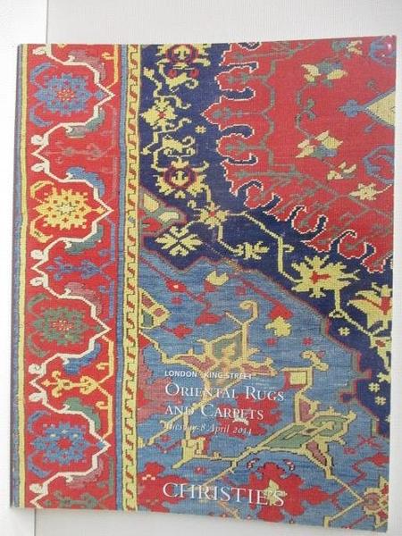 【書寶二手書T5/收藏_JR5】Christie s_Oriental Rugs and Carpets_2014/4/8