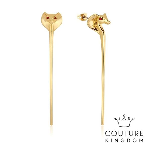 Couture Kingdom 迪士尼阿拉丁賈方蛇形鍍金耳環 Aladdin Jafar Snake Staff Earrings