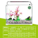 魚缸 小型超白玻璃熱帶水族箱 長方形生態水草缸中型客廳金魚缸      麻吉鋪