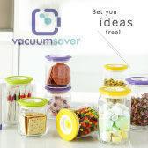 Vacuumsaver『 Cofispot & Color 真空玻璃密封罐 』任選三件即贈抽氣棒